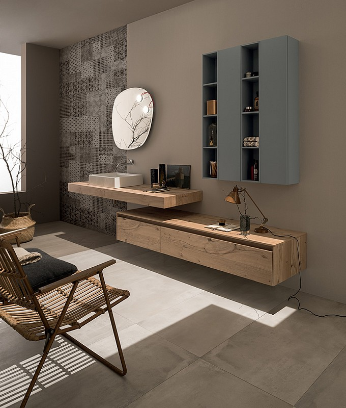 Mobile soul wood cm 300 for Accessori moderni per bagno