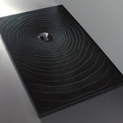 Piatto Doccia 120x80 In Ceramica.Flaminia Water Drop Piatto Doccia 120x80 H5 5 In Ceramica Nero Lucido