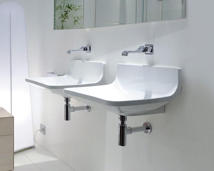 Lavabo Sospeso Bagno: Mobile lavabo sospeso per il bagno comodità ed ...