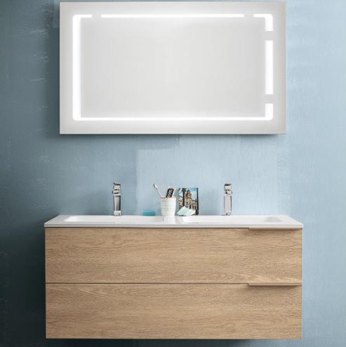 Mobile bagno thai completo di specchio con 2 lavabi - Mobile bagno con 2 lavabi ...