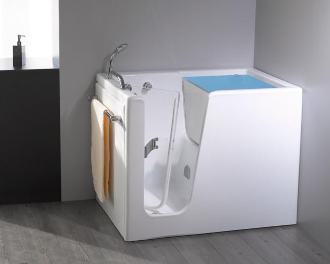 Vasca con sportello auxilia small 100x70 con sistemi di riempimento rapido - Busco vasche da bagno ...