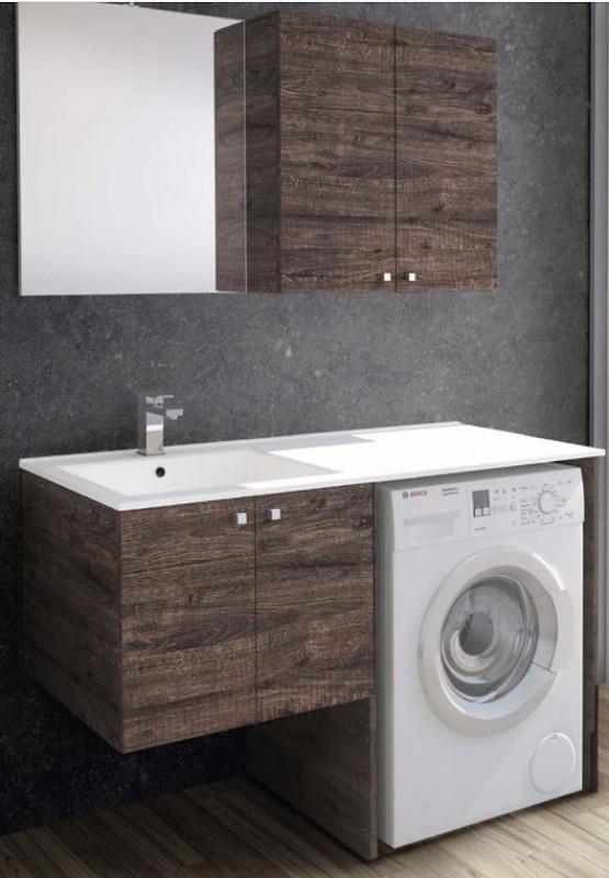 Mobile bagno con porta lavatrice e lavatoio cm 131 - Mobile bagno con lavatoio ...