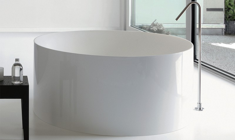 Vasca Da Bagno Piccole Dimensioni 120 : Vasca dual tonda 120 freestanding