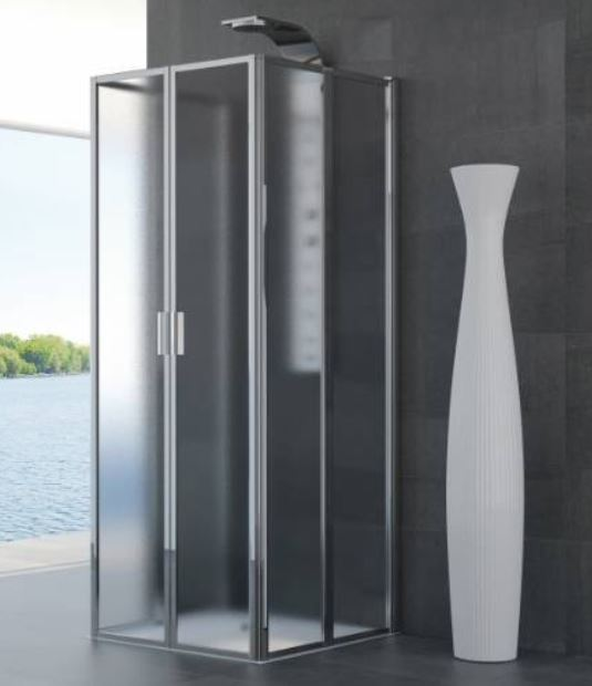 Box Doccia 70 X 90.Foldaway Shower Box With 3 Geneva Folding Sides 70x90
