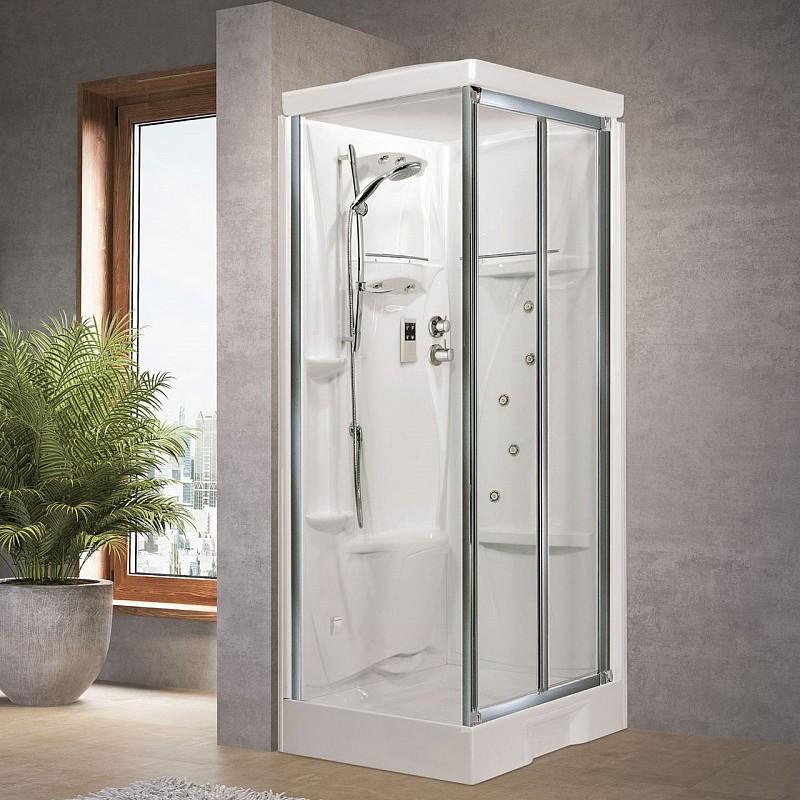 Cabina doccia new holiday sf 100x80 - Cabina doccia senza piatto ...