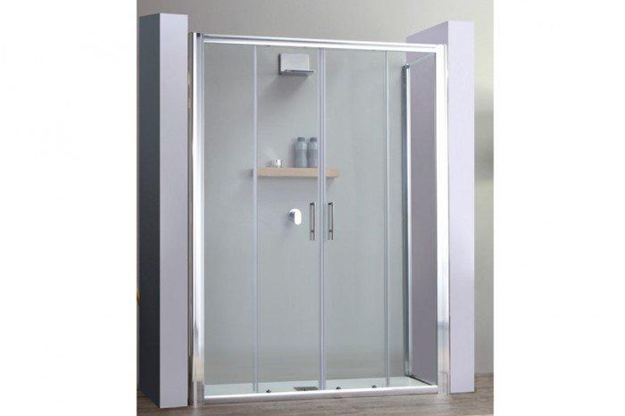 Cabine Doccia Complete : Box doccia porta scorrevole apertura ante centrali cm