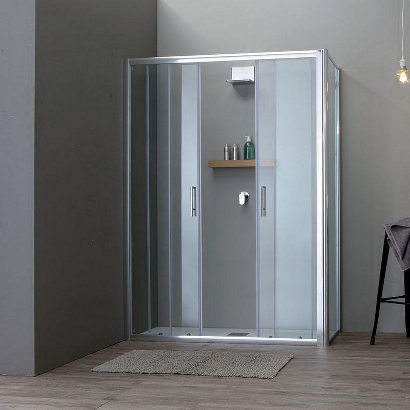 Porta Scorrevole A 2 Ante.Box Doccia Porta Scorrevole Apertura 2 Ante Centrali Cm 150