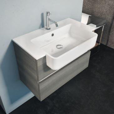 Mobile bagno semincasso sospeso 120 cm - Lavello bagno con mobile ...