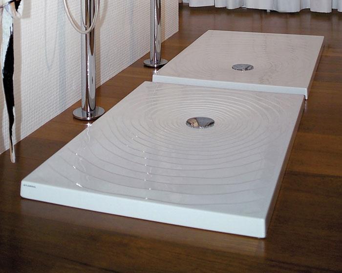 Piatti Doccia Ceramica Flaminia.Flaminia Water Drop Piatto Doccia 72x90 H5 5 In Ceramica Colore