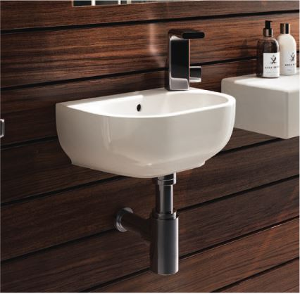 Lavabo piccolo dimensioni bianco ceramica sospeso o appoggio - Dimensioni sanitari bagno piccoli ...